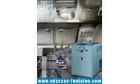 fontaine à eau  180 L/H banc de glace encastrable