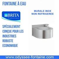 FONTAINE MURALE INOX RONDE NON REFRIGEREE