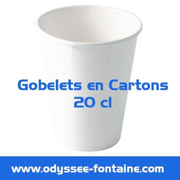 Gobelets a eau - 20cl x 27 en cartons