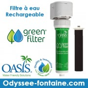 OASIS GREEN FILTER FILTRE A EAU RECHARGEABLE
