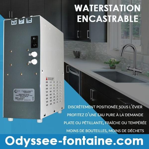 WATER STATION TIRAGE EAU GAZEUSE ENCASTRABLE