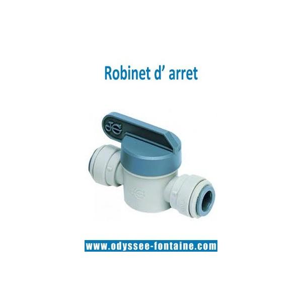Robinet D Arret Pour Tubing 6 Ou 8 Mm Pour Fontaine Reseau