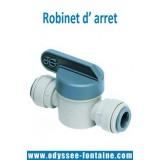 Robinet d' arret pour tubing 6 ou 8 mm pour fontaine reseau
