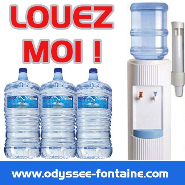 LOCATION FONTAINE A BONBONNE COURTE DUREE