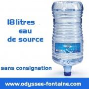 Bonbonne a eau 18 L pleine - eau de source