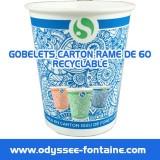 Gobelets a eau Carton - 20cl x 27 en cartons