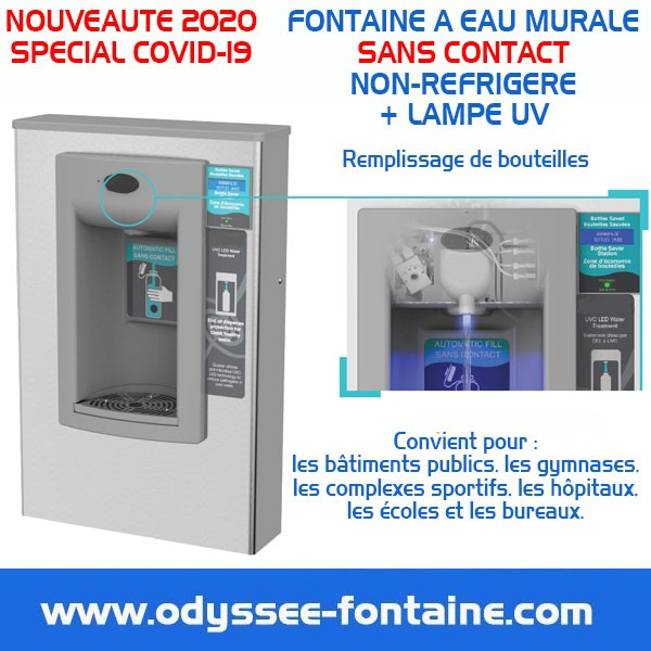 FONTAINE A EAU SANS CONTACT COVID-19