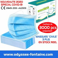 Masque 3 plis 1 euro COVID 19 CIVIL PROTECTION CORONA VIRUS