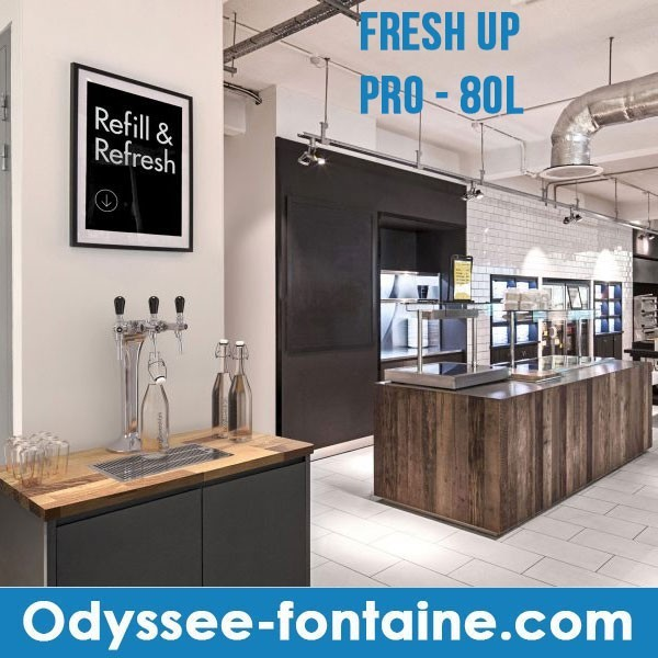 FONTAINE A EAU ENCASTRABLE FRESH UP PRO 80L