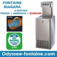 Fontaine à eau cantine et carafes GAZEUSE
