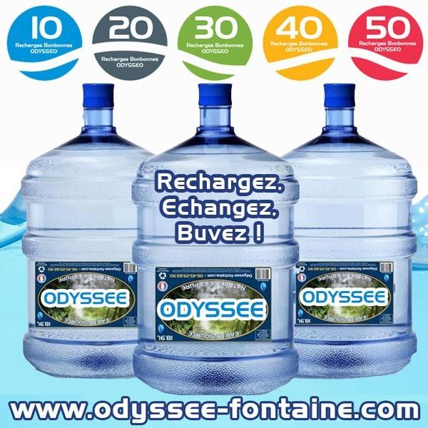Fontaine bonbonne eau Odysseo sans électricité