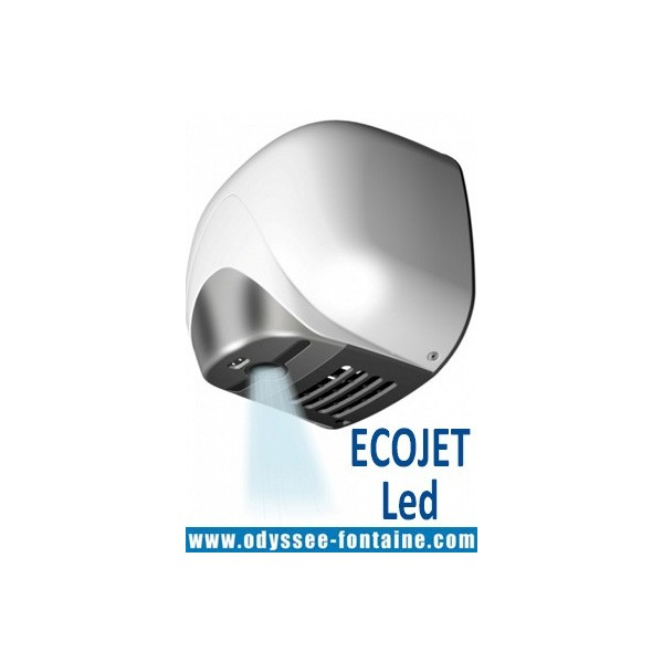 SECHE MAINS AIR PULSE ANTI-MICROBIENS METAL BLANC ECOJET