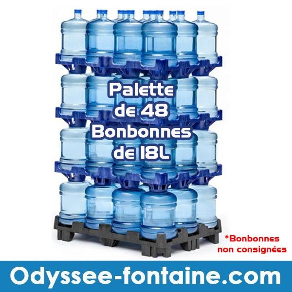 PALETTE DE 48 BONBONNE A EAU 18 L SANS CONSIGNE EN PROMO