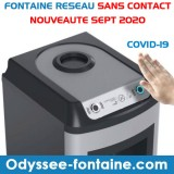 LOCATION FONTAINE A EAU SANS CONTACT FROIDE + TEMPEREE à 55 € HT/ MOIS EN FULL SERVICE - FACTURATION ANNUELLE
