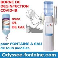 BORNE DE DESINFECTION COVID POUR FONTAINE A EAU