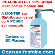 PHAGORUB GEL SPS 500ml. avec pompe montée 3ml pour BORNE