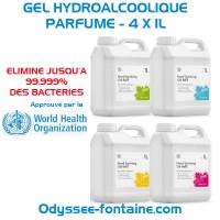 GEL HYDROALCOOLIQUE PARFUME - 4 FLACONS DE 1L