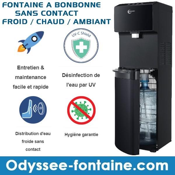 FONTAINE D'EAU FRAICHE TOUCHLESS SANS CONTACT A BONBONNE