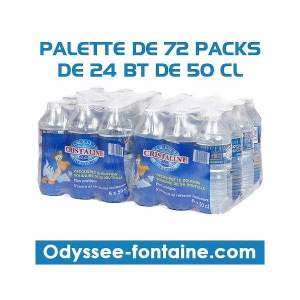 PALETTE EAU CRISTALINE 72 PACK DE 24 BOUTEILLES DE 50CL
