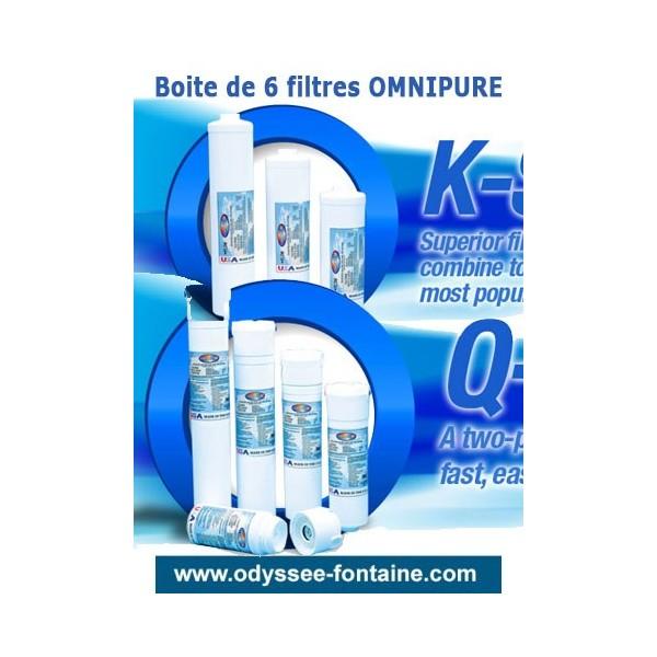 OMNIPURE Filtre a eau par 6 pièces