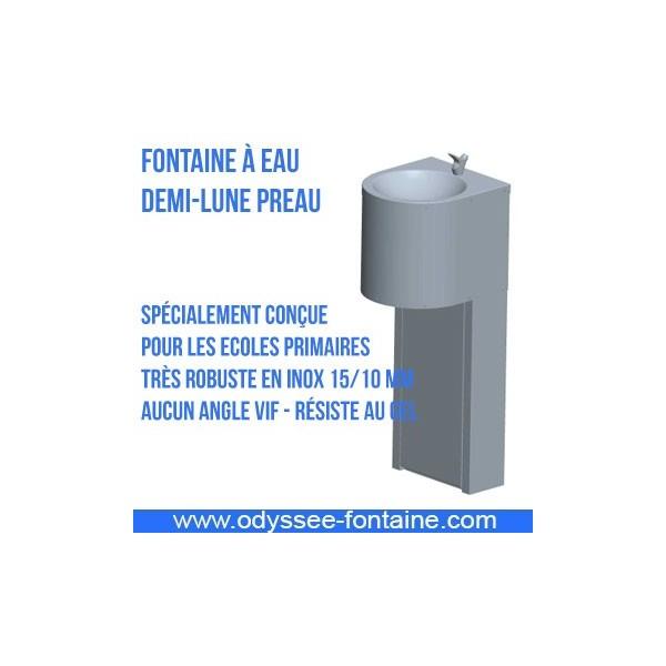 Fontaine à eau DEMI-LUNE PREAU