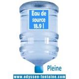 Bonbonne a eau 18,9 L pleine x 36 - eau de source ODYSSEO