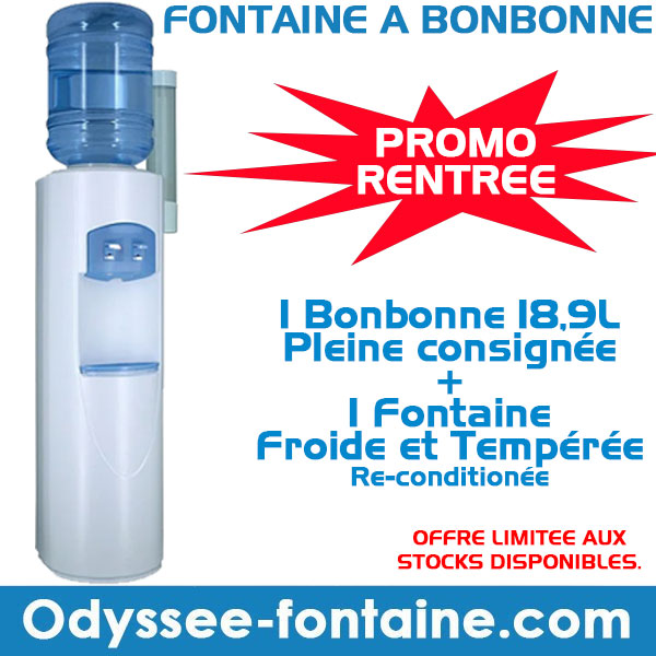 Fontaine à eau avec 1 bonbonne 18,9 L en PROMO RENTREE