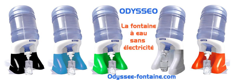 Fontaine à eau Odysseo - Livrée avec 1 bonbonne 18,9L à remplir