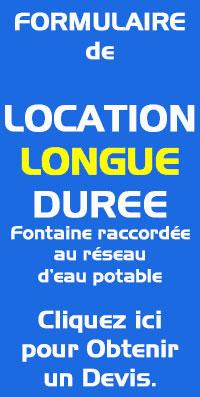 location fontaine réseau longue durée