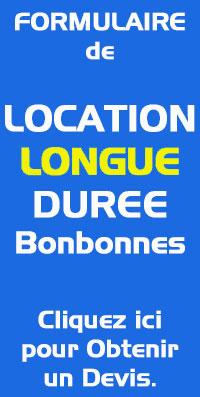 location bonbonne longue durée